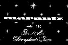 MARANTZ 110 - 150 Schematic Diagram Service Manual Repair Schaltplan Schematique