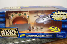 Star Wars Galoob GIAN SPEEDER & THEED PALACE Action Fleet, NEW/Complete MIB