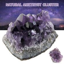 Natural Druzy Amethyst Geode Cluster Crystal Quartz Stones Healing Rough Mineral