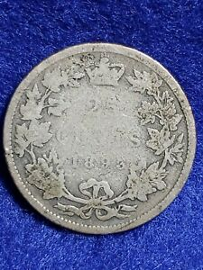 1893 Canada Quarter L@@K RARE ONLY 100,000 MINTED