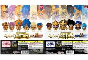 Set of 12 Bandai Gashapon Capsule Saint Seiya 01 & 02 Complete Set Japanese