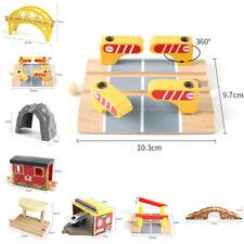 Pista de madera de juguete de Puente de Ferrocarril Juguetes Conjunto Accesorio de componentes de Accesorios.
