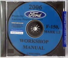 2006 Ford F150 Pickup Lincoln Mark LT Factory Service Manual Shop Repair CD