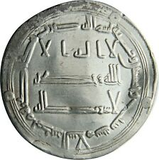 Islamic Silver Coin Abbasid Dirham AU+ Madinat Al Salam 156 AH Certified w/ COA