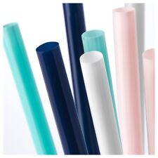 Ikea 100 Extra Wide Smoothie Drinking Straws SOTVATTEN pink blue white