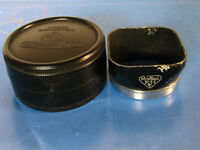 Rolleiflex Bay I/Bay 1 Lens Hood In Bakelite Box For Rolleiflex T,MX,Rolleicord