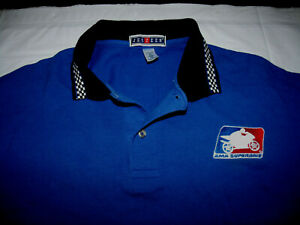 AMA Superbike Motorcycle Blue Polo Shirt Men's XL Embroidered 100% Cotton