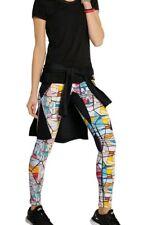 $415 Lucas Hugh Sz S compression fabric to sculpt Yoga Pant Leggings art print