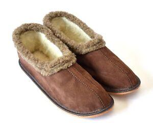 Herren und Damen Leder Hausschuhe.Schuhgröße von 37 bis 44.Neu.Dz-89