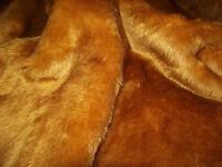 SHORT PLUSH Care Bear Faux Fur Fabric HONEY BROWN