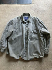 Beretta Hunting Shooting Shirt Mens XXL Flannel Lined Padded Shoulders Button Up