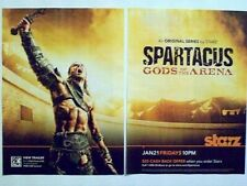 2011 Magazine Advertisement Page Spartacus Gods Of The Arena Starz 2 Page Ad