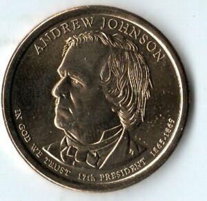 United States Presidential Dollar Andrew Johnson 2011 D
