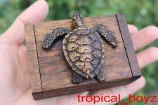 4 Resin Sea Turtle Honu Teak Wood Teakwood Wooden Boxes Box Wholesale