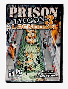 Prison Tycoon 3 Lockdown PC Video Game CD ROM Brand New Rated T-Teen