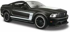 *NEW* Ford Mustang Boss 302 (2012) 1:24 Scale S E Black/White Diecast Car