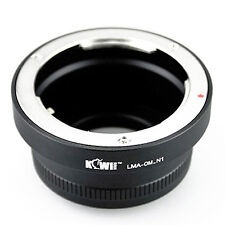 Adaptateur Bague Monture Objectif Olympus OM vers Appareil Photo Nikon 1 J1 V1