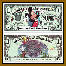 "Disney 1 Dollar, 2000 ""AA"" Series Mickey Tuxedo Disneyland Uncirculated"