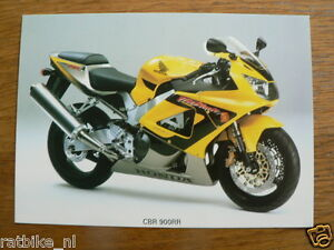 H493 HONDA  PHOTO MOTORCYCLE CBR 900 RR MOTORRAD BIKE