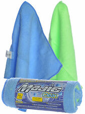 """Majic 9 x 9"""" High Absorbent Car Detail Microfiber Towels Cleaning Cloths 2-Pack"""