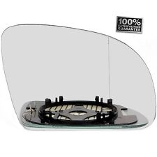 RIGHT DRIVER  Side HEATED WING DOOR MIRROR GLASS VW Lupo 1998-2000 Clip On (R11)