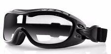 Bobster Night Hawk Lente Claro Gafas de moto se adapta sobre Gafas Anti-niebla