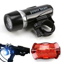 UK LED Mountain Cycle Headlight batteries Bicycle Bike Front Rear Lights Set