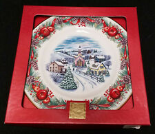 Lenox Villages Around the World #1 New England Hilltop plate Mint in box 2000