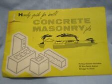 Handy Guide for Small Concrete Masonry Jobs Vintage Portland Cement Assoc 1957