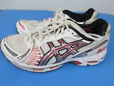 Womens A SICS  GEL- KAYANO  TN650  running shoes  white/red/silver  size 8