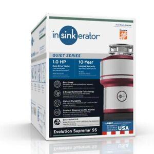 InSinkErator Evolution Supreme SS 1 HP Garbage Disposal NEW IN BOX BEST PRICE!