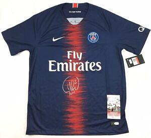 Thiago Silva Signed PSG Jersey JSA Coa Brazil Paris Saint Germain