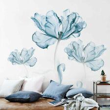 Large Blue Flower Wall Art Stickers Vinyl Decal Living Space Decor Art Mural DIY
