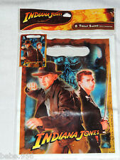 NEW INDIANA JONES    8-PLASTIC LOOT BAGS   PARTY  SUPPLIES