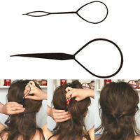 Topsy Tail Hair Braid Ponytail Maker Styling Tool Hair Accessories 2pcs - UK
