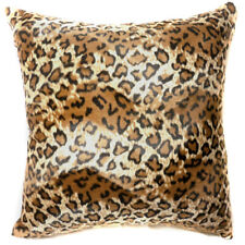 Ff09a Faux Fur Brown Leopard Skin Print Cushion Cover/Pillow Case*Custom Size