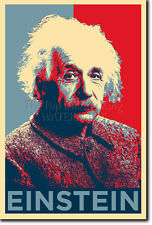 ALBERT EINSTEIN ART PHOTO PRINT (OBAMA HOPE PARODY) POSTER GIFT PHYSICS