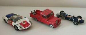 Corgi Toys Porsche Carrera 6, Land Rover 109 & Cooper Maserati F1 Model Cars