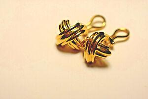 Tiffany &Co 18K Yellow Gold Iconic Signature X  Graffiti Earrings Vintage 8 gram