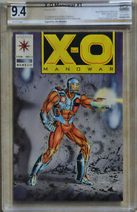 X-O MANOWAR #1 (1992, VALIANT) PGX 9.4 (NM) Like CGC White SIGNED BY Jim Shooter
