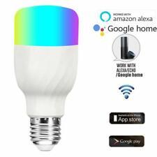WiFi Smart Light Bulb Bulbs Dimmable LED E27 Lamp RGBW For Google Home /Alexa