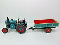 Lanz Bulldog 4016 mit Hänger,Federwerk-Antrieb, Maßstab 1:25, 0360, OVP, TOP, CE