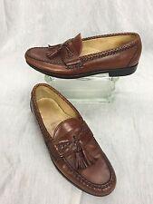 * Allen Edmonds * Maxfield Tassel Woven Brown Leather Loafers 10.5 B SUPER CLEAN