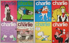 CHARLIE Mensuel 1970-74 8 numeri Pichard Wolinski Schulz Crepax Smythe Topor