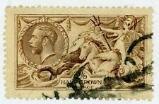 1915 Great Britain Stamp #173 (a)  2sh6p light brown Used VF HR