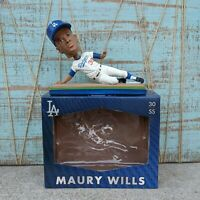 Maury Wills 30 Bobblehead 2015 Los Angeles Dodgers Stadium Giveaway SGA *Damaged