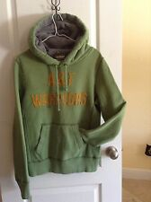 distressed pullover Abercrombie & Fitch fleece hoodie LOTS LOGO sz S