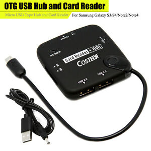 OTG HUB And Card Reader Micro USB Type Hub And Card Reader For Samsung S3456