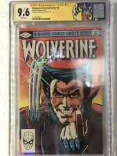 Wolverine 1 CGC SS 9.6 Frank Miller Signed 9/1982 Limited Series White pgs