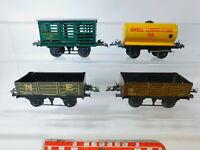 BY813-1# 4x Hornby Spur 0 Blech-Güterwagen: Shell+NE+LMS+Southern 2435, 2. Wahl